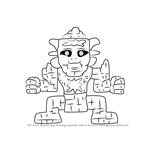 How to Draw Golem from Terraria