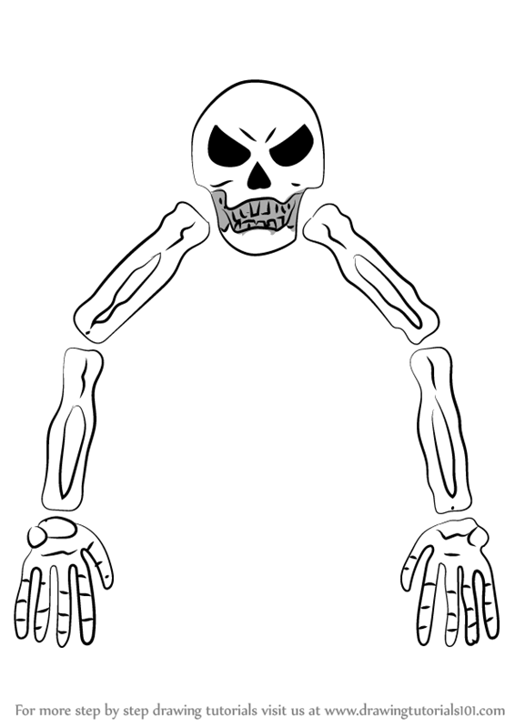 Learn How To Draw Skeletron From Terraria Terraria Step