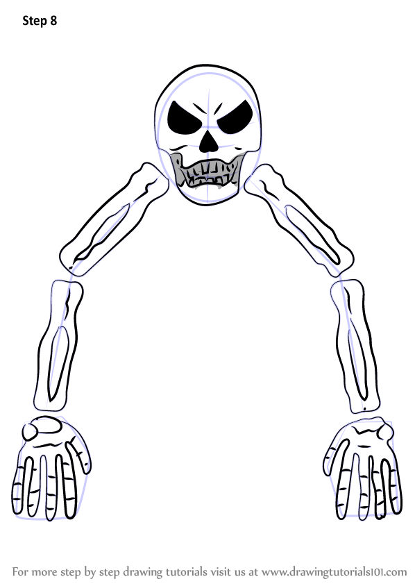 Step by Step How to Draw Skeletron