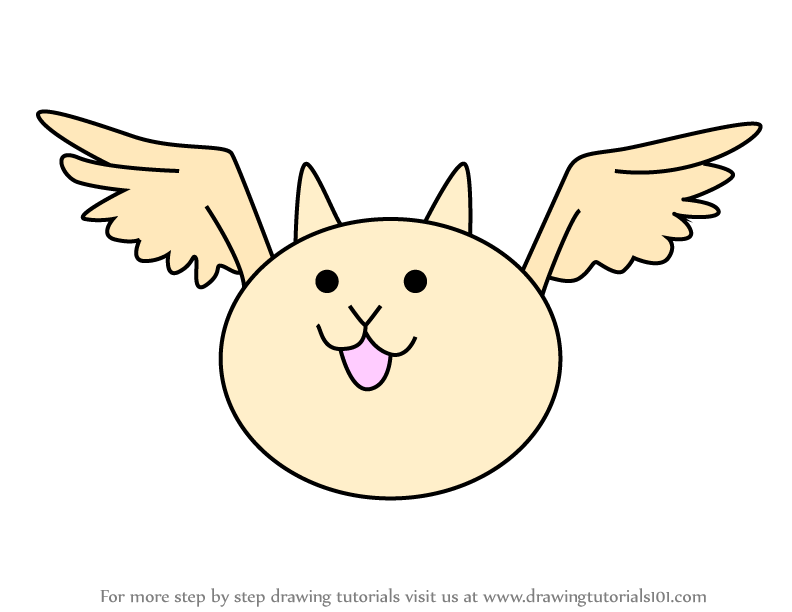 Learn How To Draw Bird Cat From The Battle Cats The Battle Cats Step By Step Drawing Tutorials