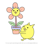 How to Draw Flower Cat from The Battle Cats