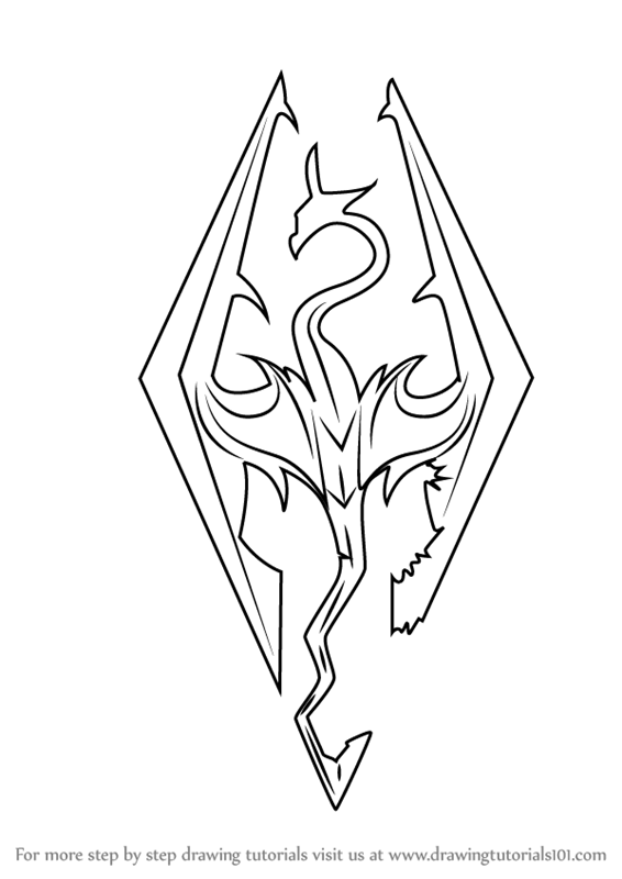 Step by Step How to Draw Skyrim