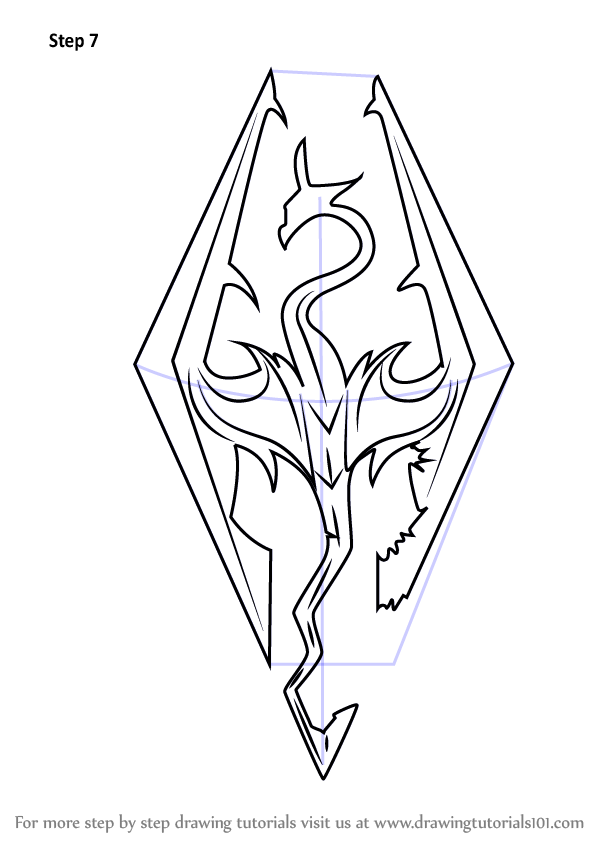 Learn How to Draw Skyrim Logo The