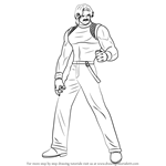 How to Draw Rugal Bernstein from The King of Fighters