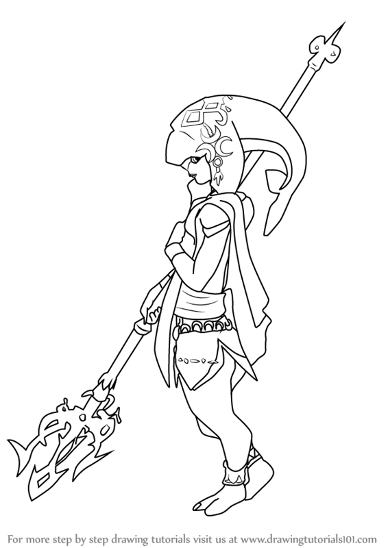 It is a picture of Crazy breath of the wild coloring pages