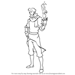 How to Draw Mako from The Legend of Korra
