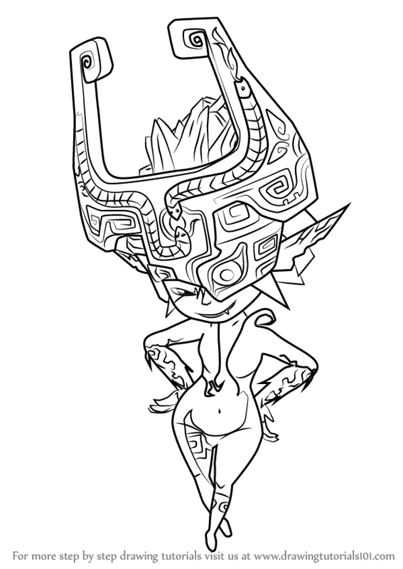 Learn How To Draw Midna From The Legend Of Zelda The