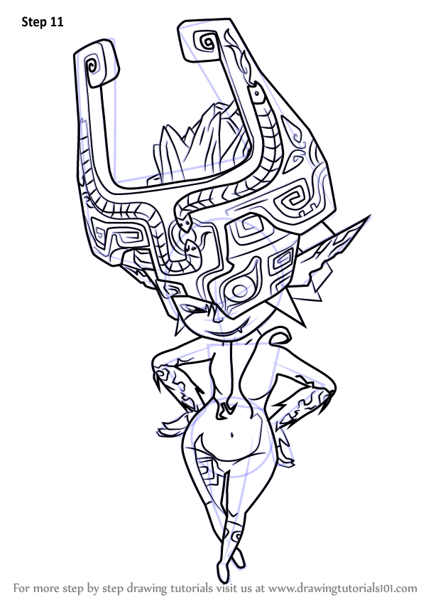 Learn how to draw midna from the legend of zelda the for Midna coloring pages