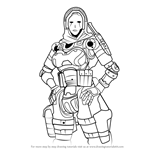 How to Draw Ash from Titanfall 2