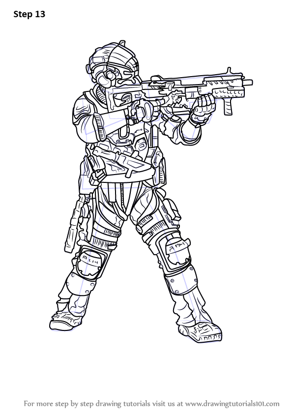 Step By Step How To Draw Jack Cooper From Titanfall 2