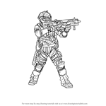 How to Draw Jack Cooper from Titanfall 2