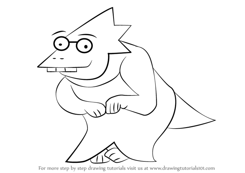 Learn How To Draw Alphys From Undertale Undertale Step By