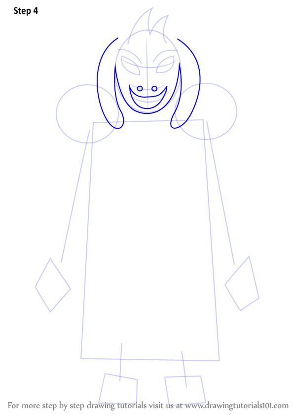 Step By Step How To Draw Asriel Dreemurr From Undertale