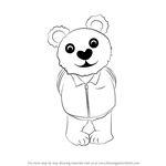 How to Draw Brown Bear from Undertale