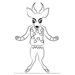 How to Draw Faun from Undertale