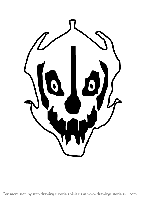 It is a graphic of Fan Gaster Blaster Drawing