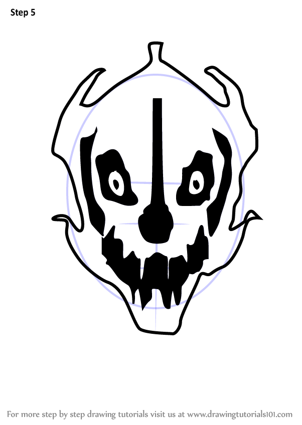 learn how to draw gaster blaster from undertale undertale step by step drawing tutorials learn how to draw gaster blaster from