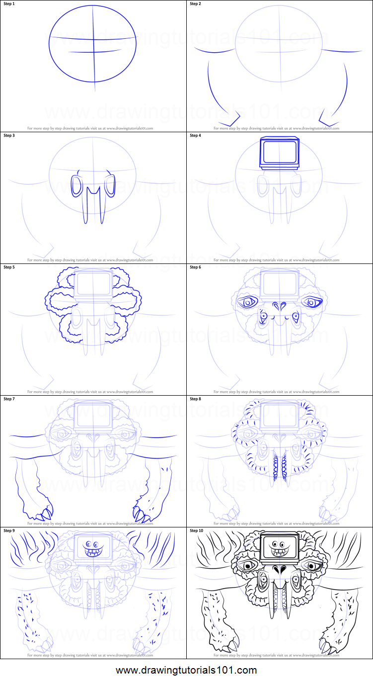 How To Draw Photoshop Flowey From Undertale Printable Step