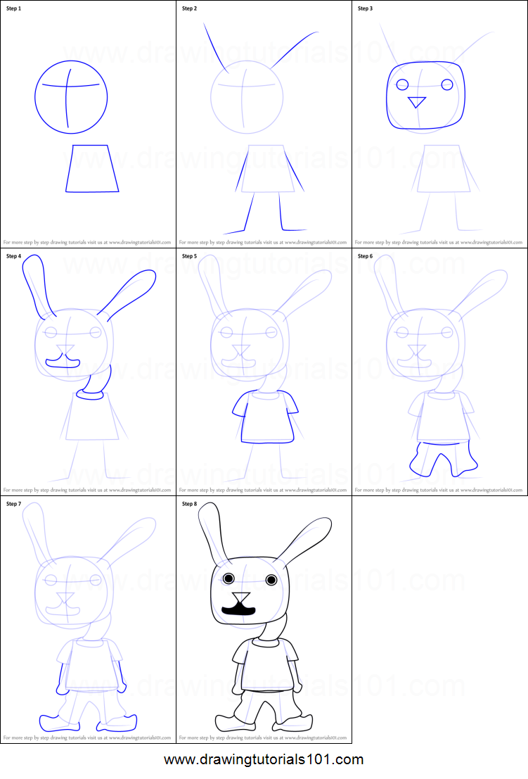 How To Draw Rabbit Kid From Undertale