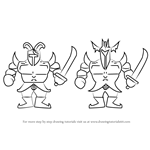 How to Draw Royal Guards from Undertale