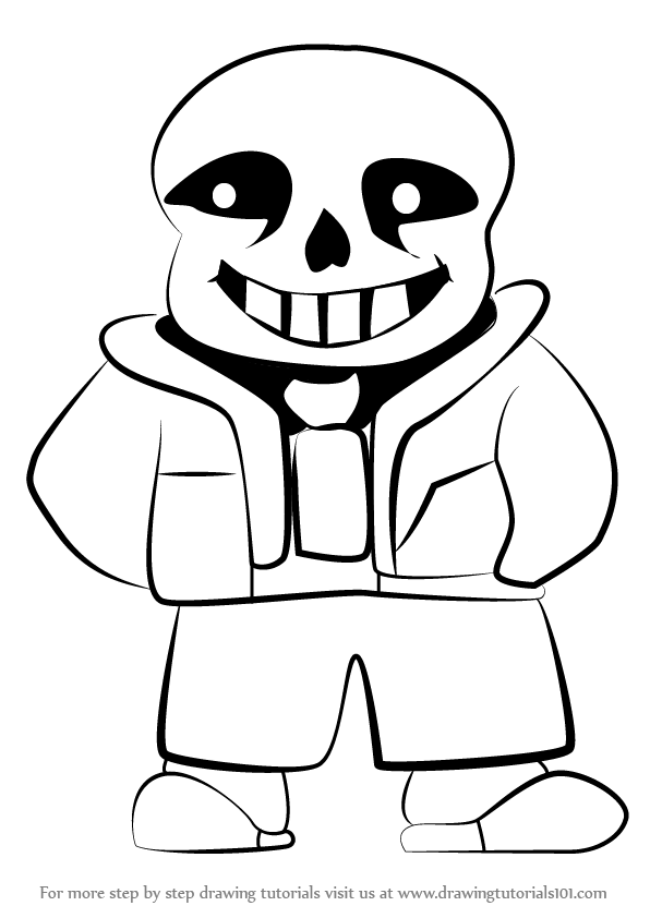 Learn how to draw sans from undertale undertale step by for Sans coloring page