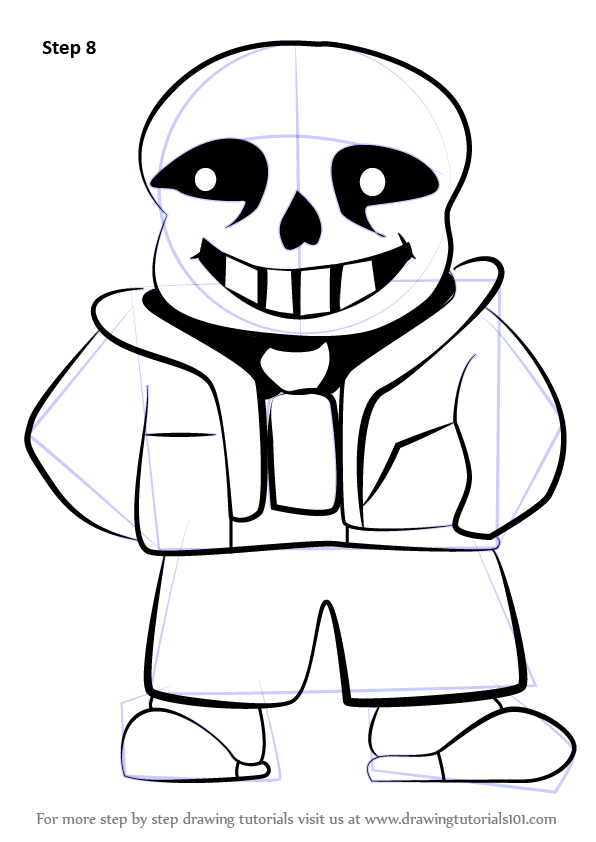 Learn How to Draw Sans from Undertale
