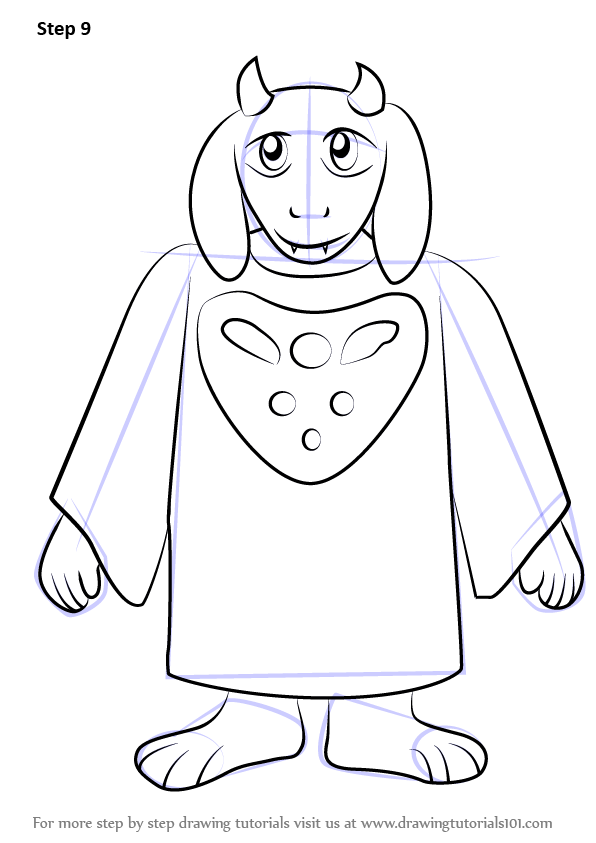Learn How to Draw Toriel from Undertale (Undertale) Step by Step