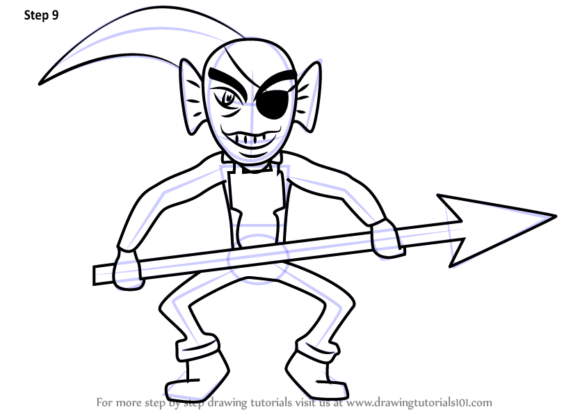 Learn How To Draw Undyne Unarmored From Undertale