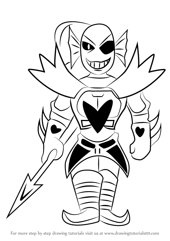 Learn How To Draw Undyne From Undertale Undertale Step