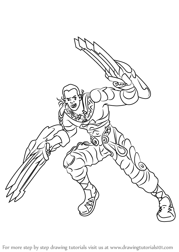 Learn How To Draw Mumkhar From Xenoblade Chronicles