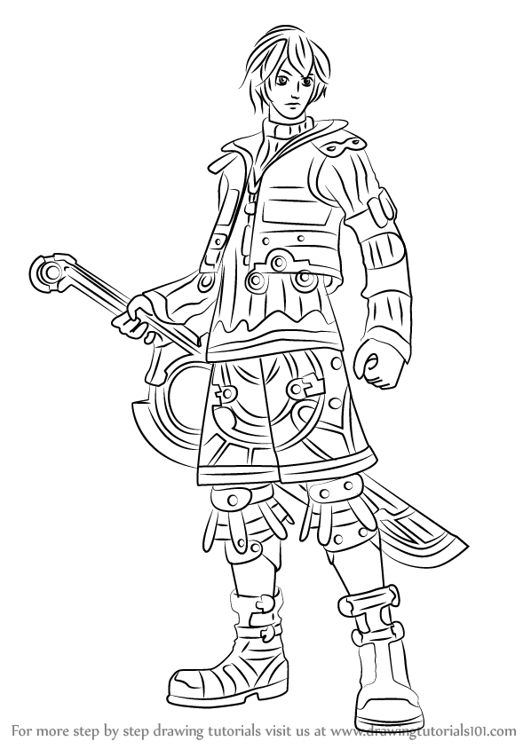 Learn How To Draw Shulk From Xenoblade Chronicles