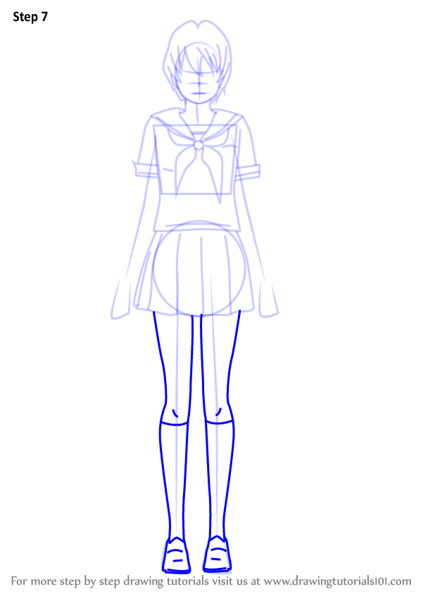 Learn How To Draw Info Chan From Yandere Simulator