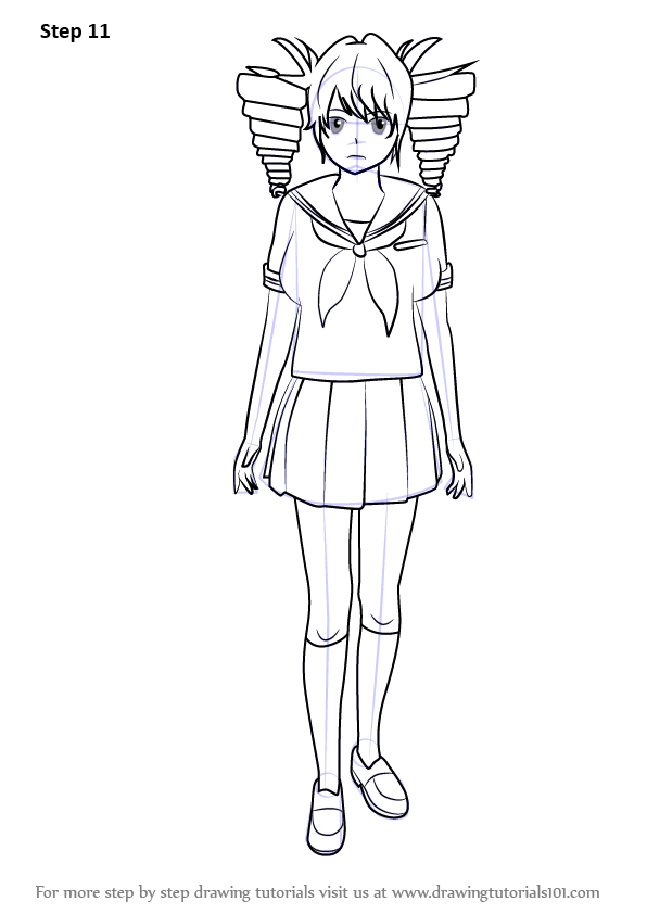 Learn How To Draw Kokona Haruka From Yandere Simulator