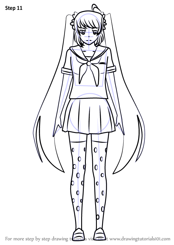 yandere simulator coloring pages learn how to draw osana najimi from yandere simulator