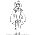 How to Draw Osana Najimi from Yandere Simulator