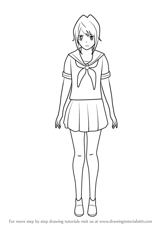 Learn How To Draw Yandere Chan From Yandere Simulator