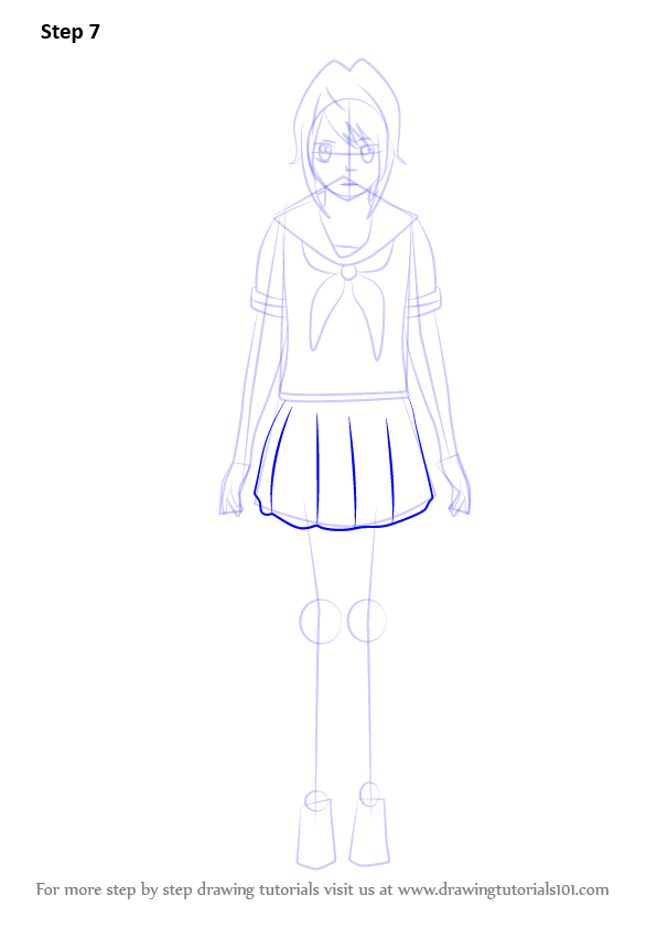 Step By Step How To Draw Yandere Chan From Yandere