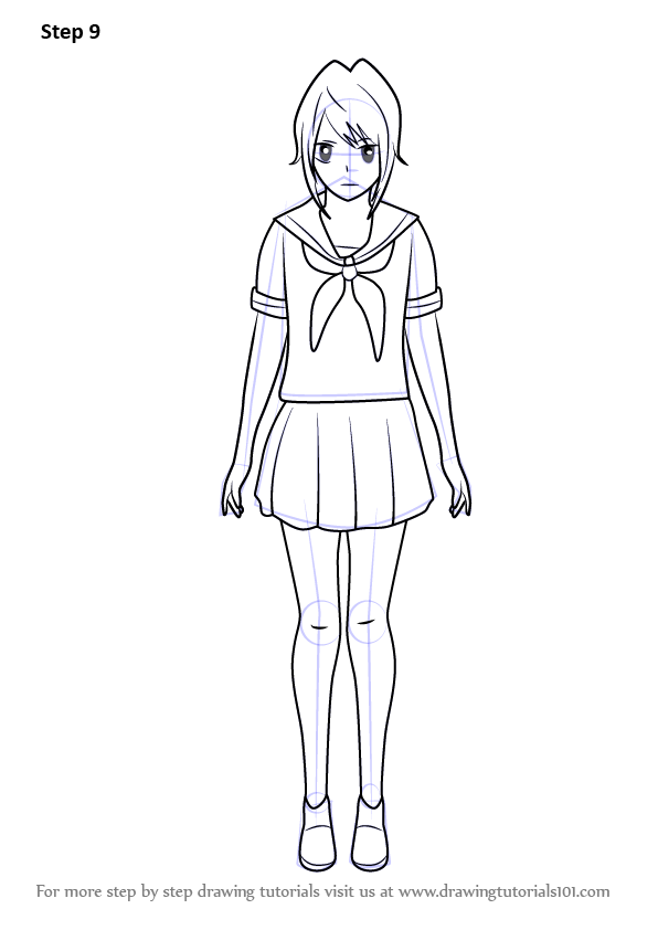 yandere simulator coloring pages learn how to draw yandere chan from yandere simulator