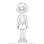 How to Draw Inaho Misora from Yo-kai Watch
