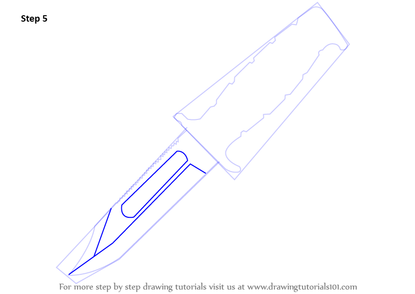 knife drawing step by step - 845×598