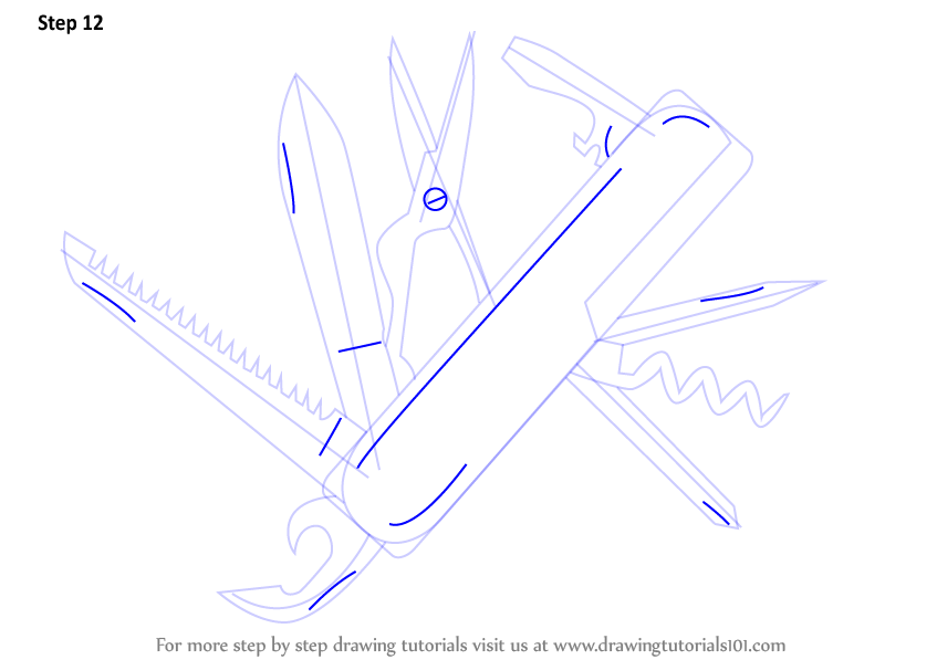 knife drawing step by step - 847×597