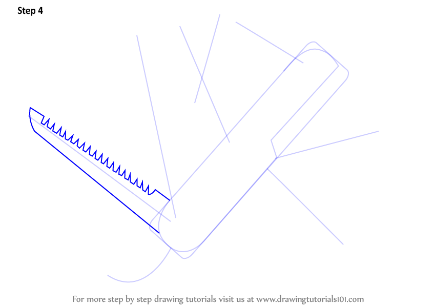 Step By Step How To Draw Swiss Army Knife