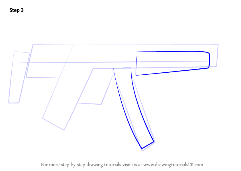 How To Draw A Machine Gun