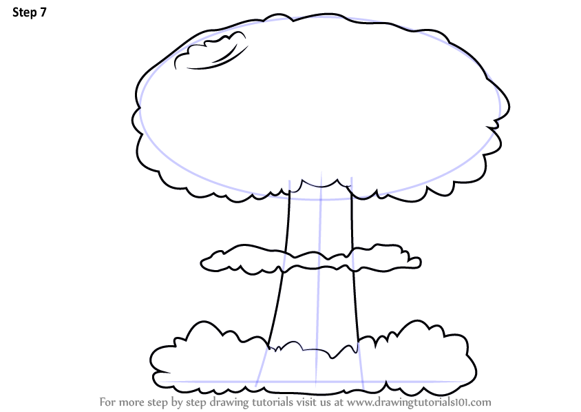 Learn How To Draw A Mushroom Cloud Other Weapons Step By