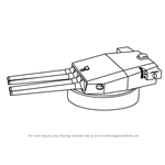 How to Draw a Turret Gun