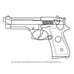 How to Draw a Beretta 92 Pistol