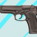 How to Draw a 9mm Beretta M9 Pistol