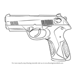 How to Draw a Beretta PX4