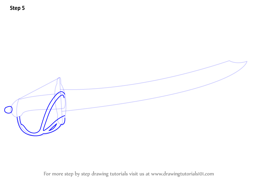 learn how to draw a cutlass swords step by step