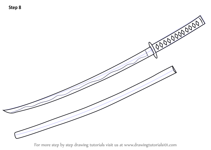 learn how to draw a samurai sword  swords  step by step   drawing tutorials